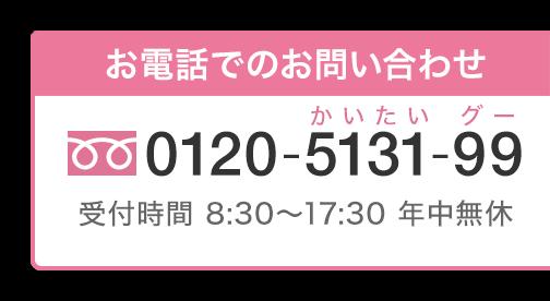 フリーダイヤル:0120-5131-99