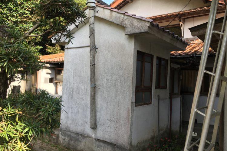 【島根県松江市T様】トイレ・浴室解体工事の外壁復旧工事