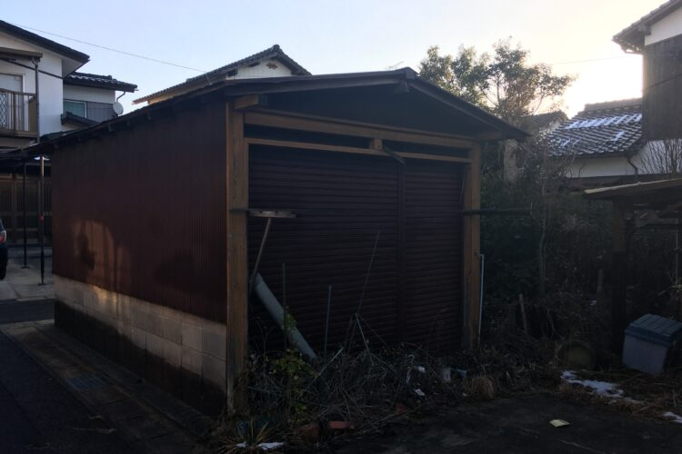 【島根県松江市A様】木造倉庫・カーポートの解体工事