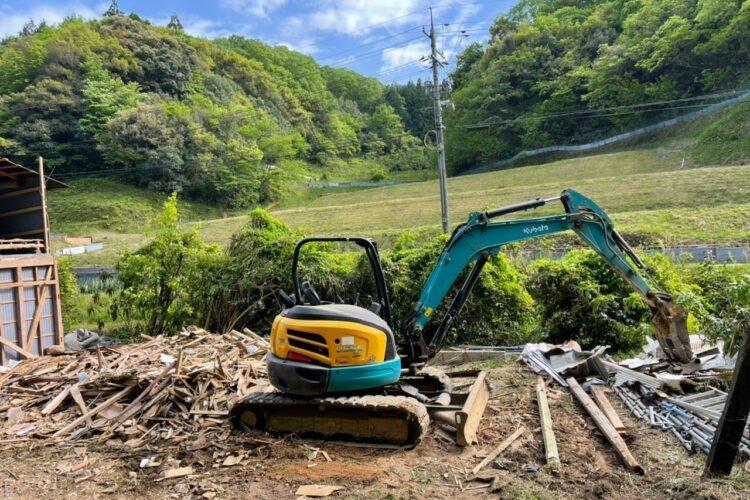 【島根県安来市T様邸】木造納屋の解体工事