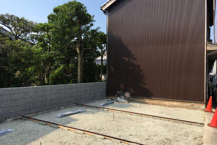 【島根県松江市I様】解体後の目隠しフェンス設置工事